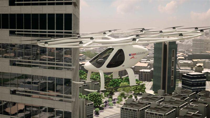 В ОАЭ начинают испытывать воздушное такси 1
