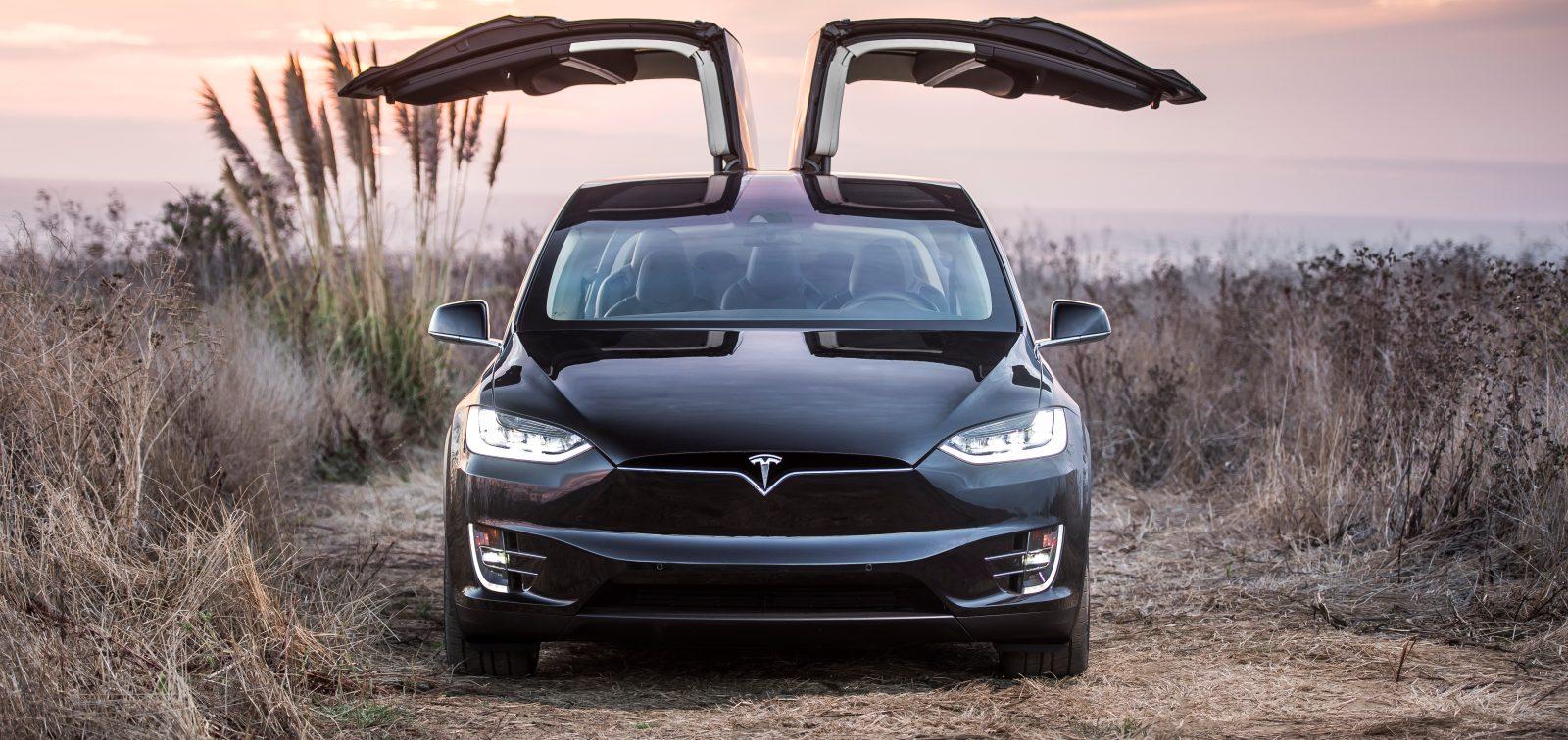 У Tesla Model X самостоятельно открываются двери 1