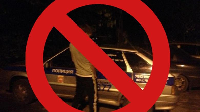 В Казахстане нарушитель справил нужду на автомобиль полиции 1