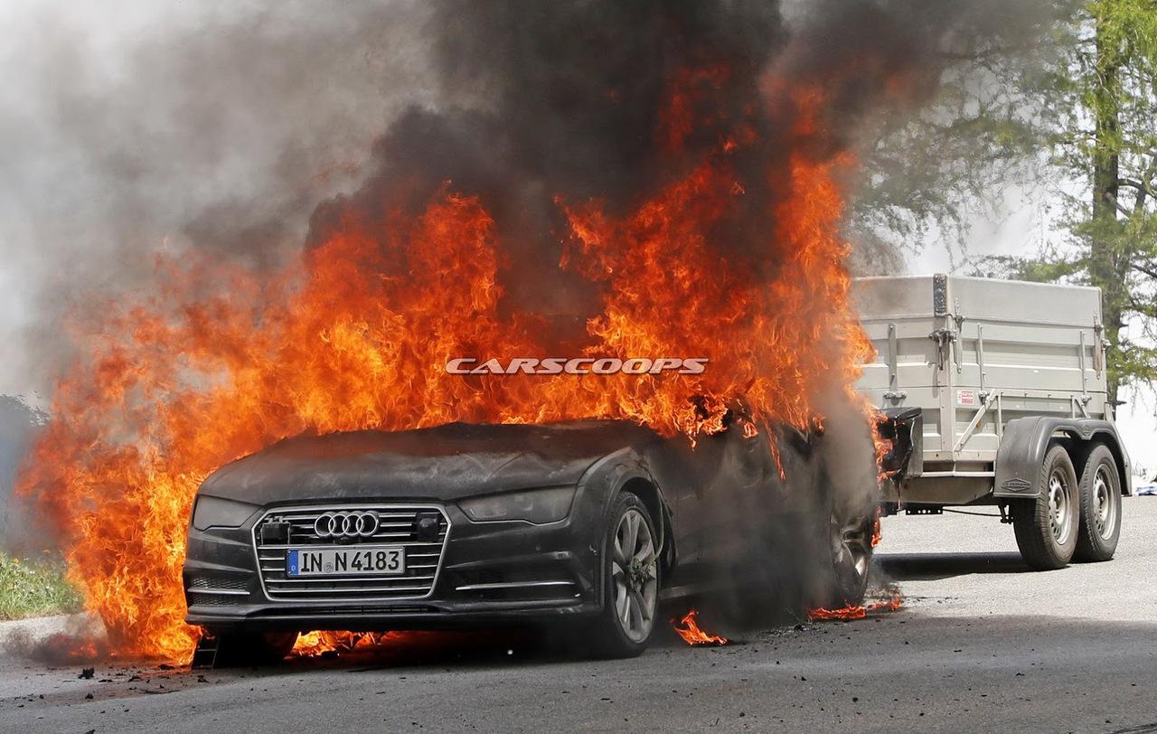 Почему «внезапно вспыхнул и сгорел дотла» тестовый Audi A7 1