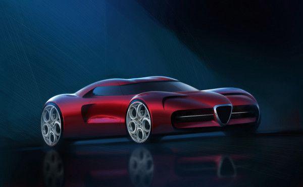 Представлен рендер суперкара Alfa Romeo 1