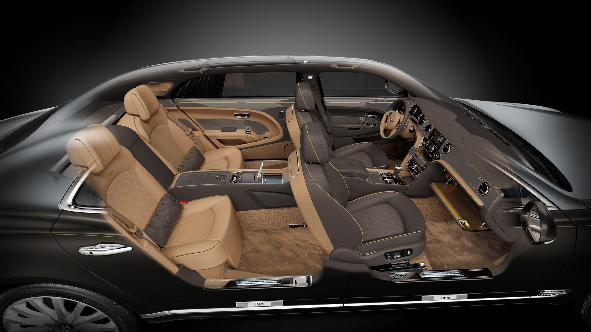 Bentley сделает 50 золотых и серебряных седанов Mulsanne 1