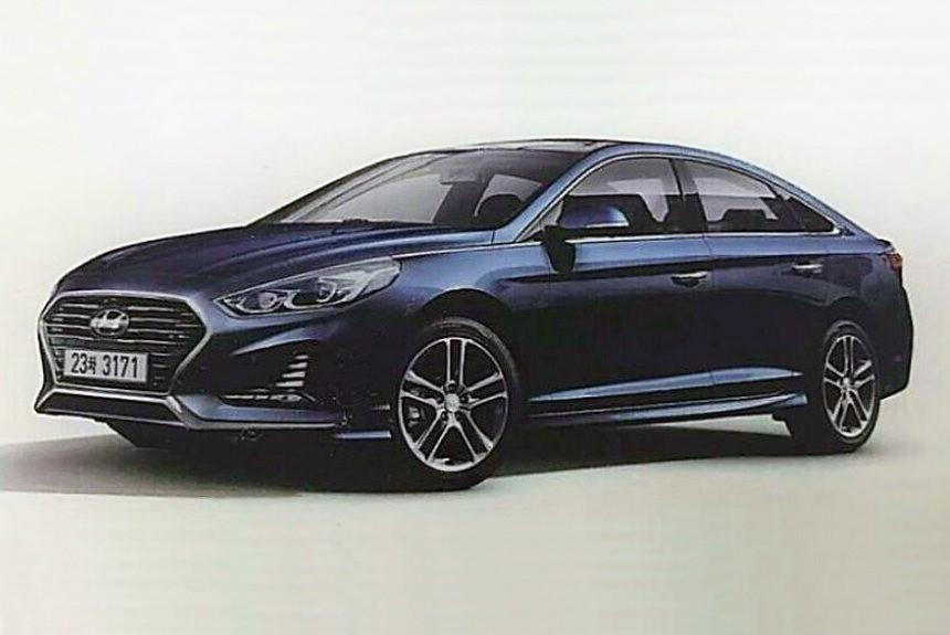 В сеть попал снимок обновленной Hyundai Sonata 1