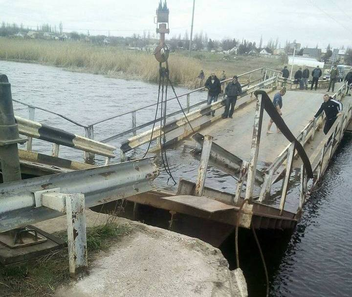 В Украине очередной обвал моста 1