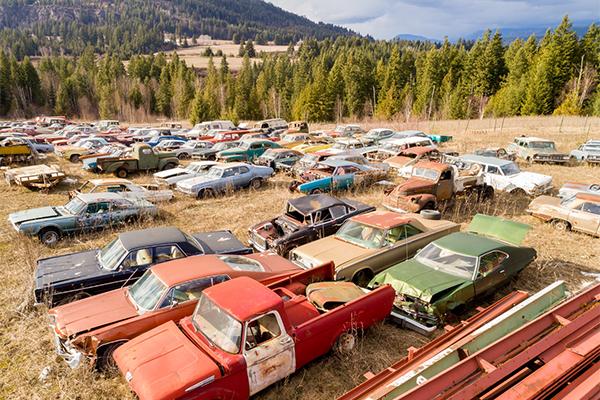На продажу выставили «кладбище» раритетных автомобилей 2