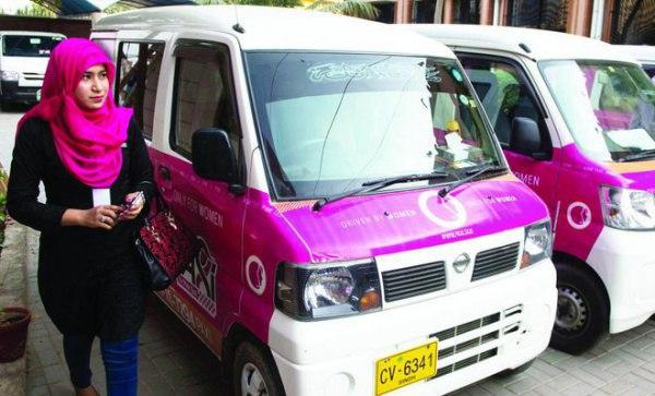 В Пакистане появилось такси исключительно для женщин 1