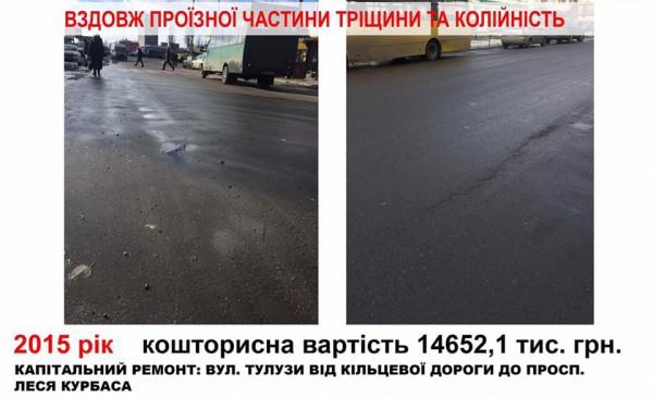 В украинской столице показали, как «исчезает» асфальт 2