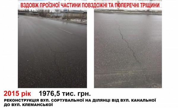 В украинской столице показали, как «исчезает» асфальт 6