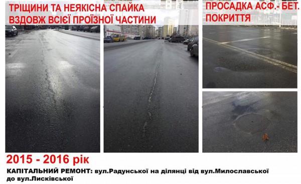 В украинской столице показали, как «исчезает» асфальт 7
