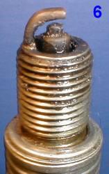 Как определить состояние двигателя по свече зажигания 6