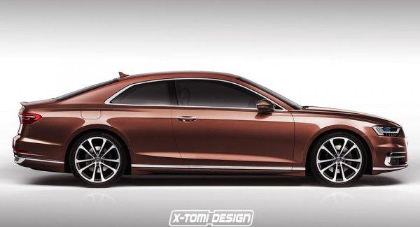 «В сеть просочились» первые рендеры Audi A8 coupe 1