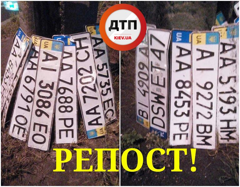 Ливень в Украине «смыл номерные знаки с сотен автомобилей» 1