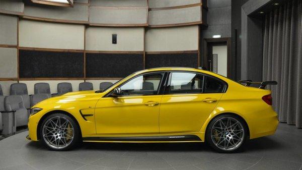 Уникальный желтый BMW M3 для клиентов из ОАЭ «стал хитом в Сети» 3