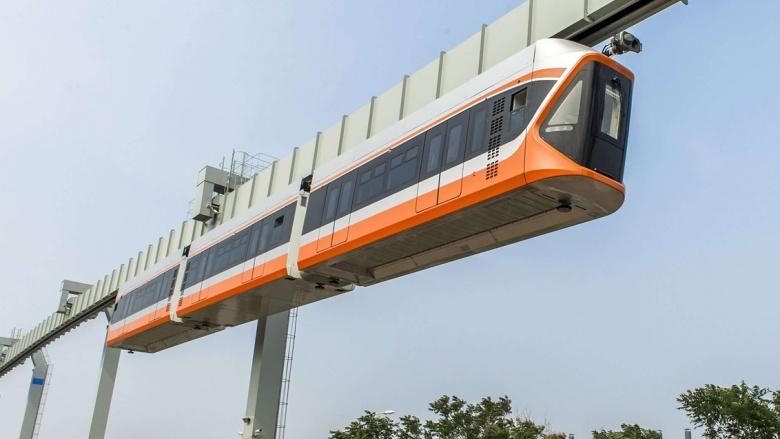В Китае начали тесты «подвесного транспорта» 1