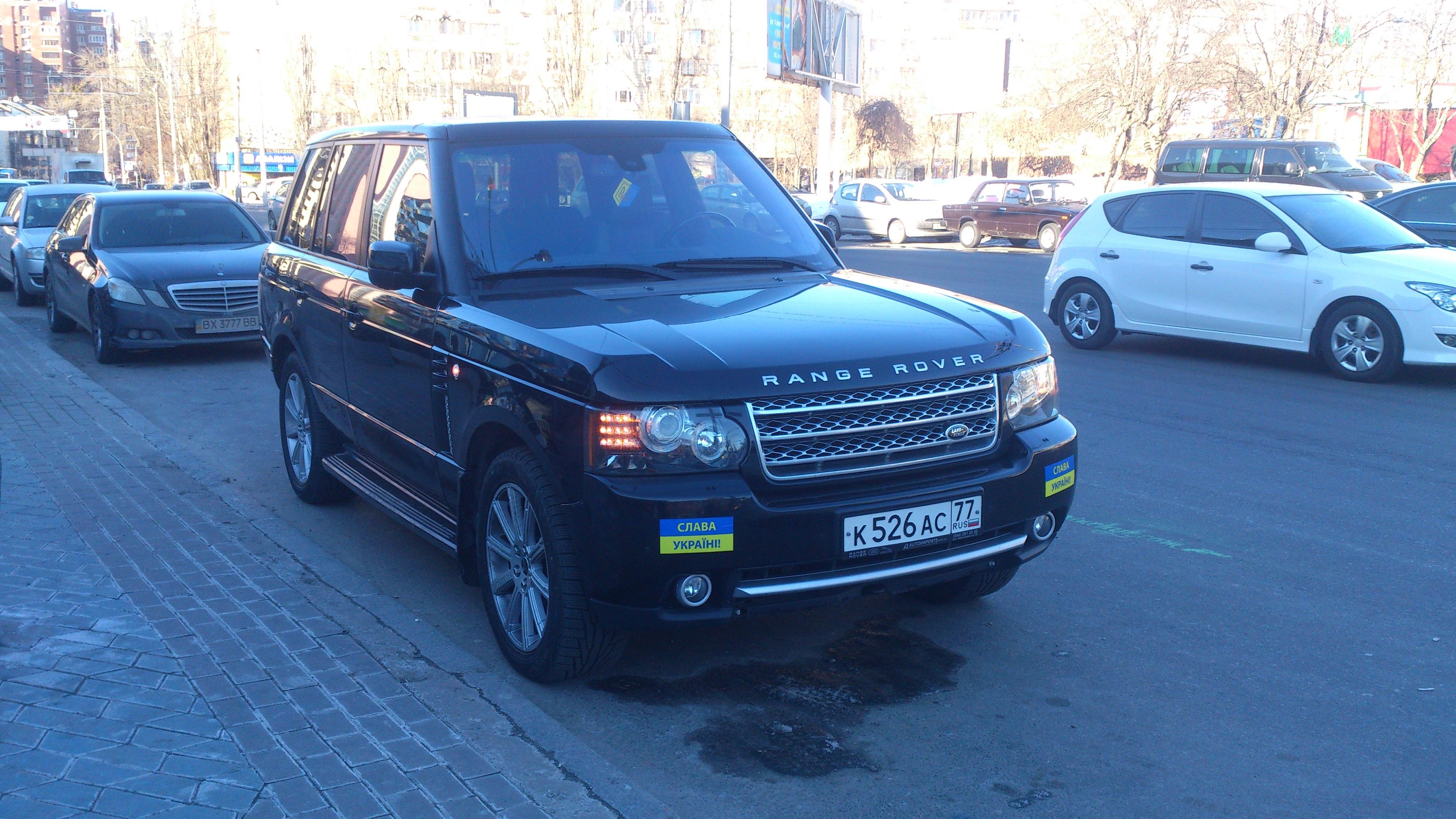 Владелец Range Rover «креативно замаскировал автомобиль под украинский» 2