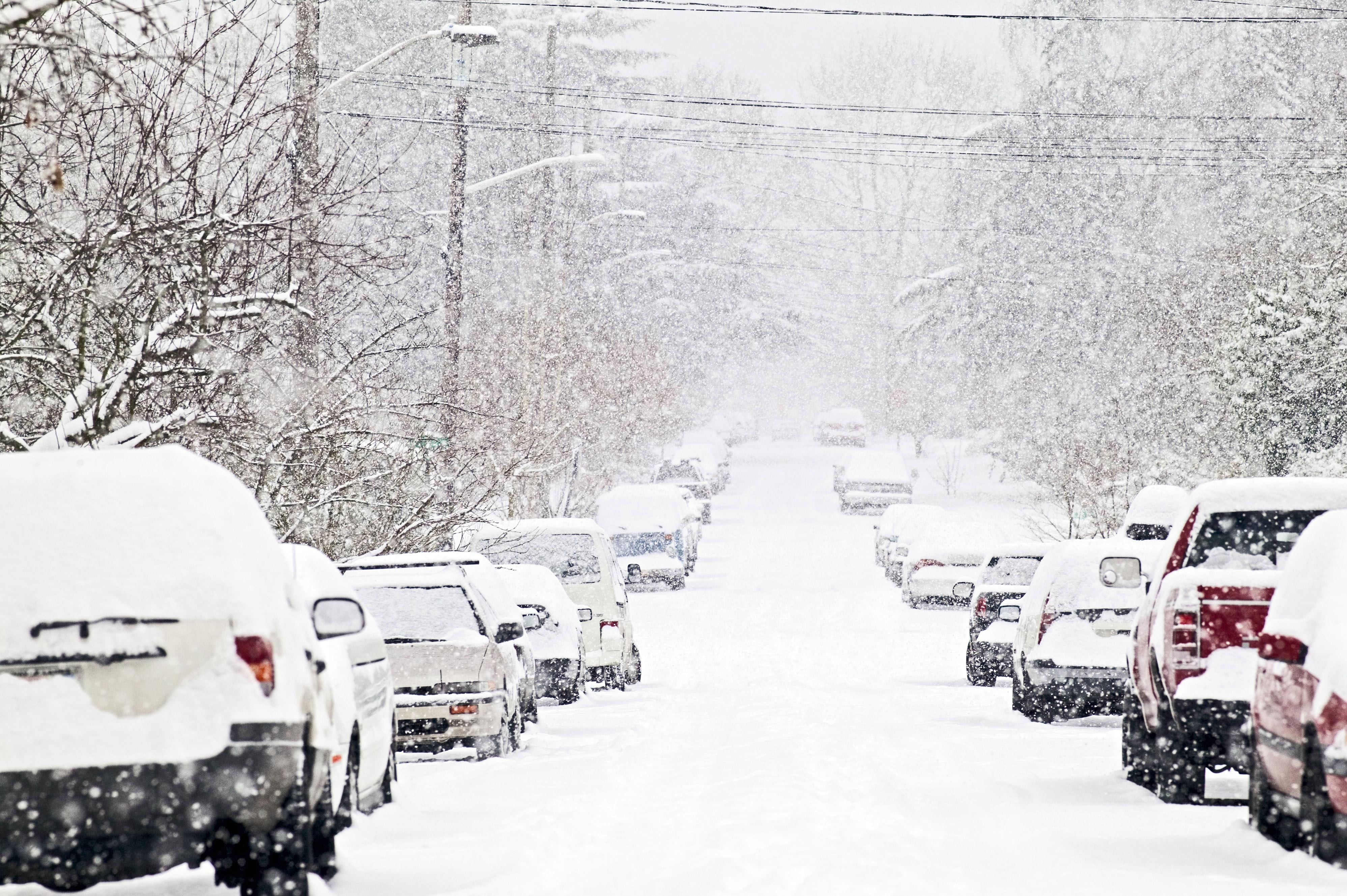 Трассы Украины перекрывают из-за снегопада 1