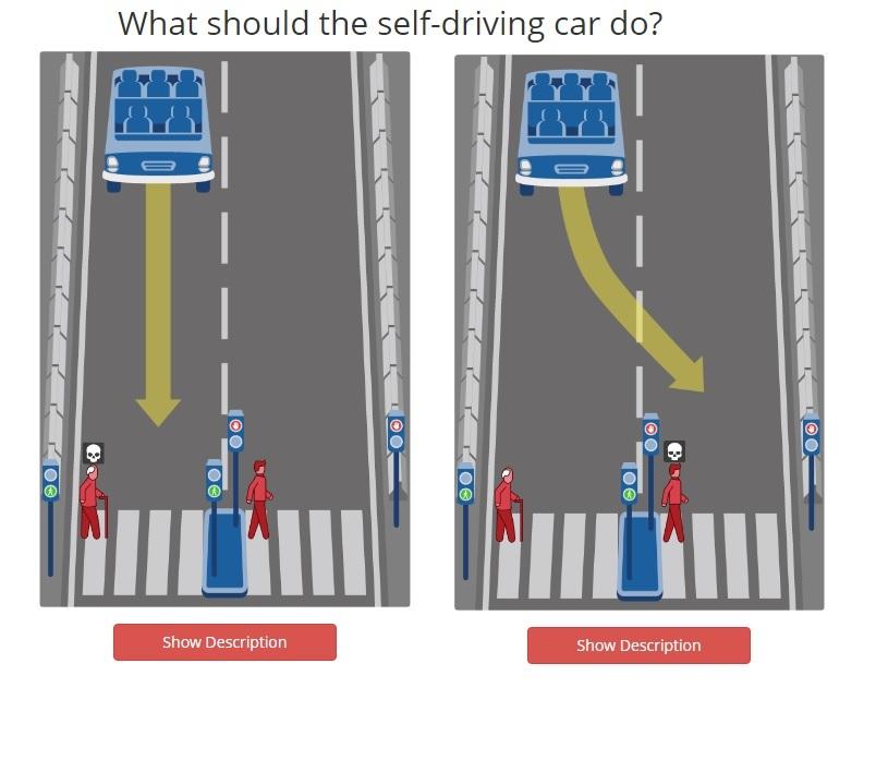 Ученые предложили выбрать, кого должен убить беспилотный автомобиль 1