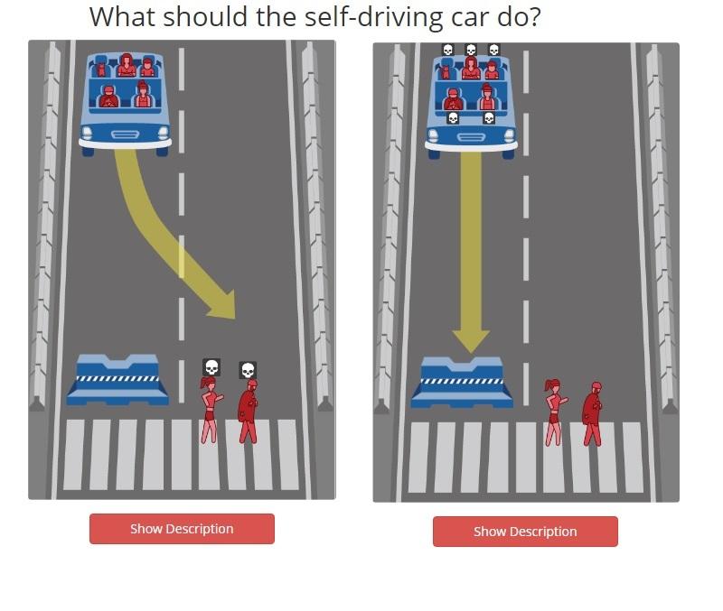Ученые предложили выбрать, кого должен убить беспилотный автомобиль 3