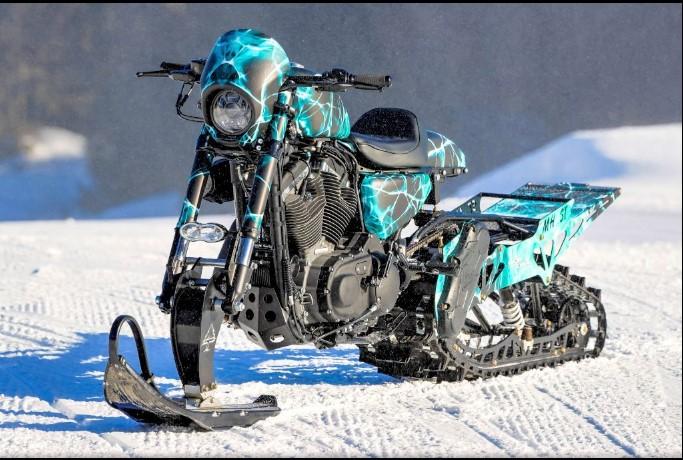 Как мотоцикл Harley-Davidson превратили в «снежную бестию» 1
