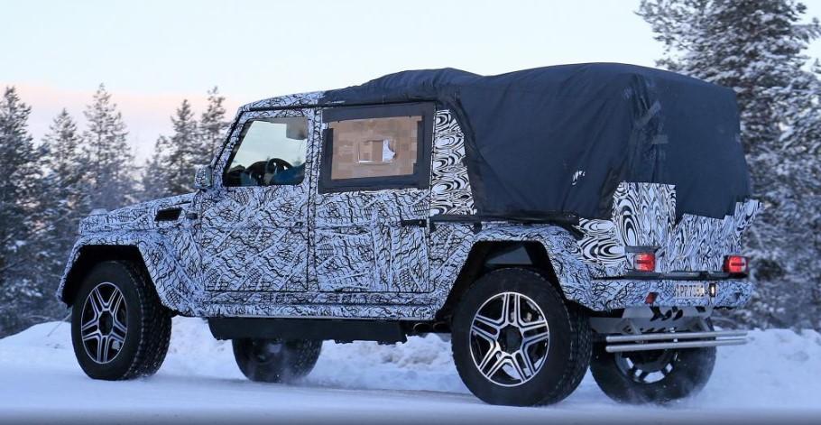 Mercedes-Benz выпустил на снег странный G500 2