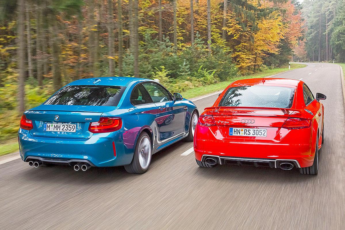 «Немецкое противостояние»: тест-драйв Audi TT и BMW M2 6