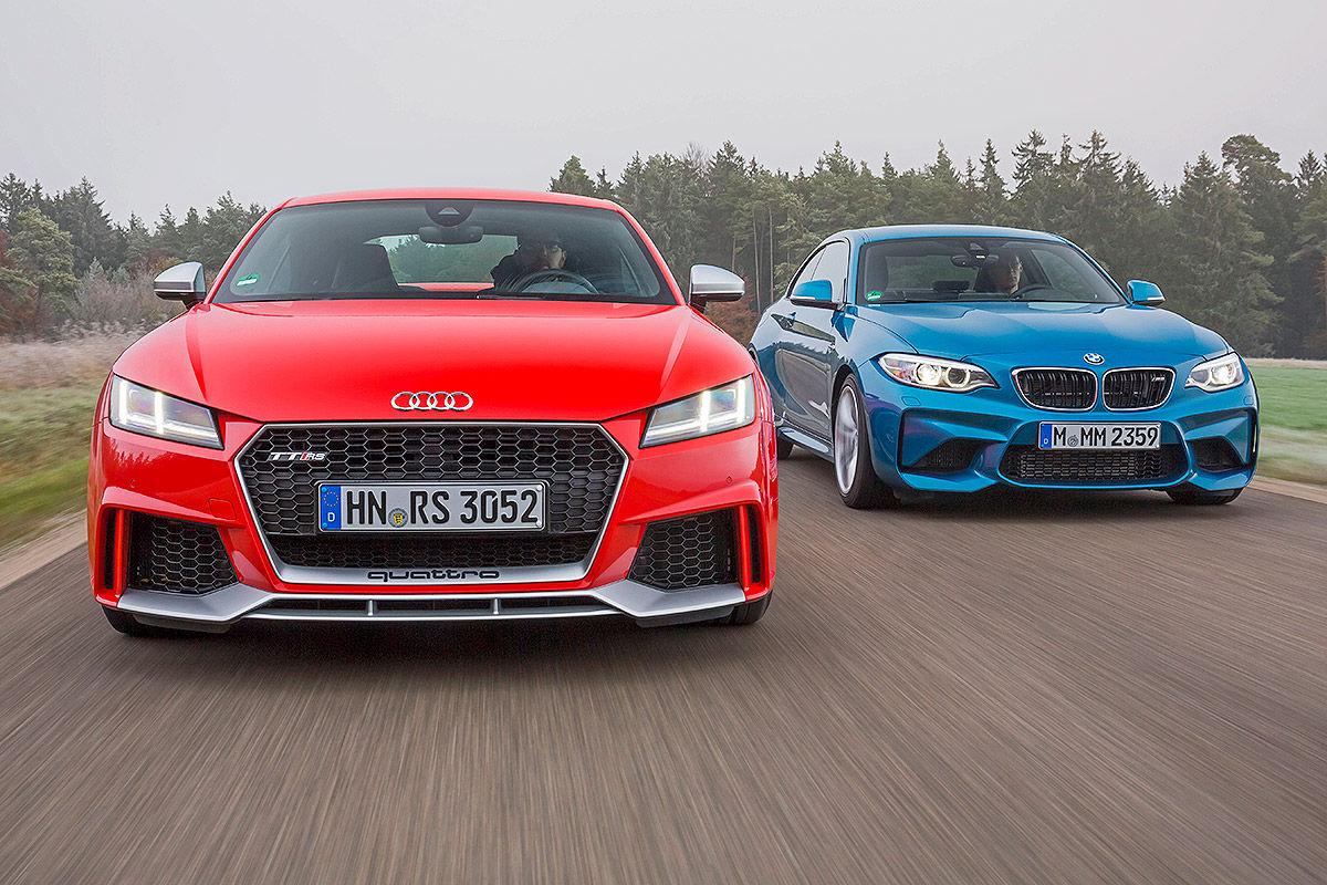 «Немецкое противостояние»: тест-драйв Audi TT и BMW M2 1