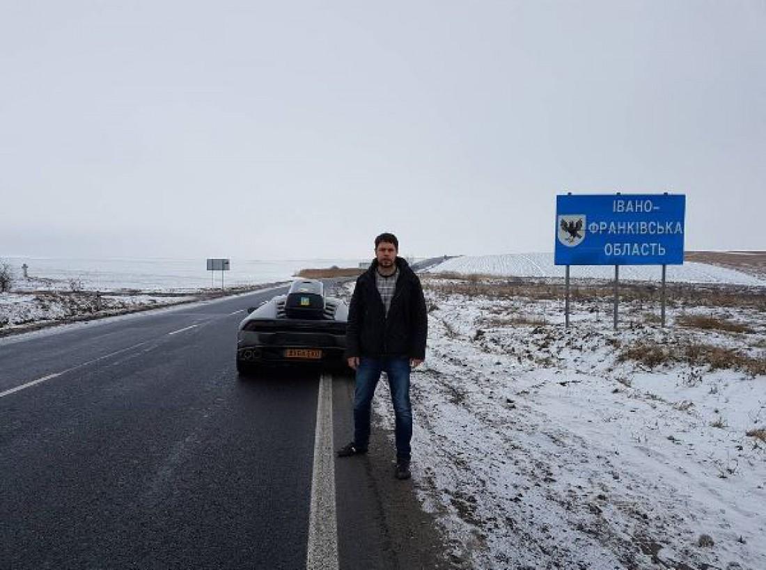 Из Англии в Украину «своим ходом» на Lamborghini Huracan 1