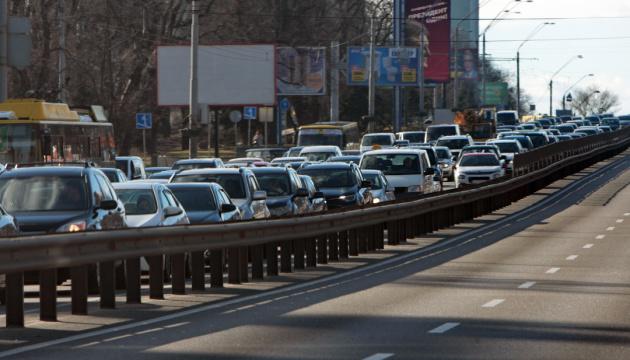 Утренний Киев погряз в заторах 1