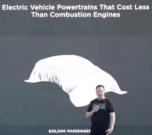 Илон Маск пообещал выпустить очень дешевую «Теслу» 1