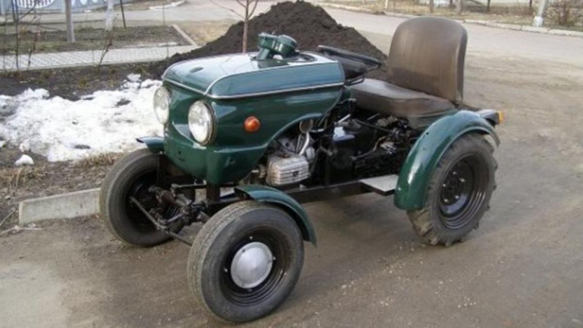 Украинец превратил старенький «Запорожец» в трактор 1