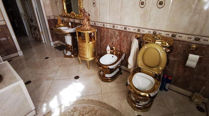 «Пшонка завидует»: у российского «гаишника» обнаружили золотой унитаз 3