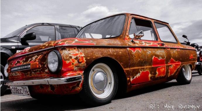 В сети показали ЗАЗ-968 с тюнингом в стиле rat look 1