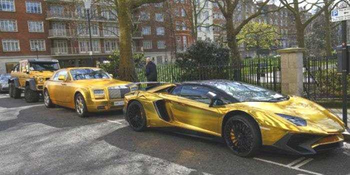«Золотой автопарк» принца Саудовской Аравии шокировал британцев 1