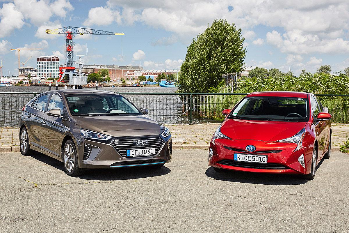 «Противостояние гибридов»: тест-драйв Hyundai VS Toyota 1