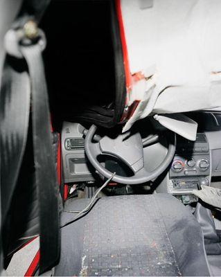 Вид из салона автомобилей, разбившихся в кошмарных ДТП 2