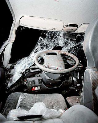 Вид из салона автомобилей, разбившихся в кошмарных ДТП 4