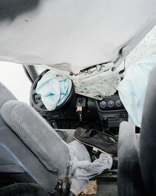 Вид из салона автомобилей, разбившихся в кошмарных ДТП 6