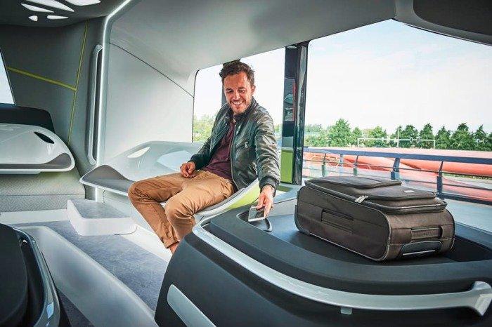 Mercedes-Benz тестирует футуристический автобус 4