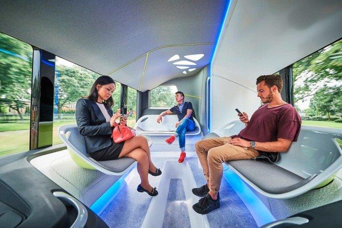 Mercedes-Benz тестирует футуристический автобус 6