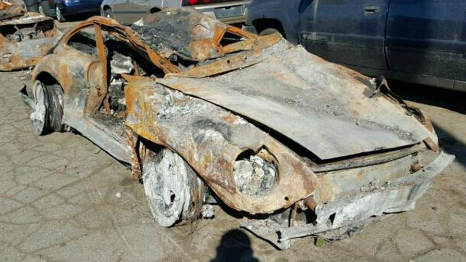 Сгоревший Porsche «уйдет с молотка» за $95 тыс 2