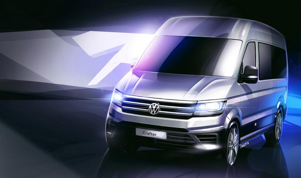Опубликованы первые изображения нового Volkswagen Crafter 4