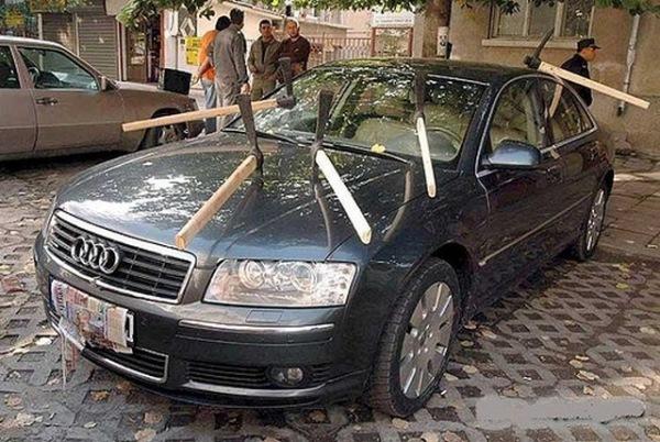 Самые оригинальные «народные» способы наказания «героев парковки» 9