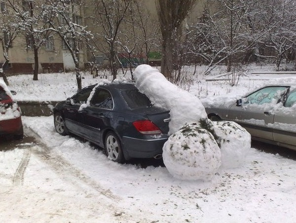 Самые оригинальные «народные» способы наказания «героев парковки» 10