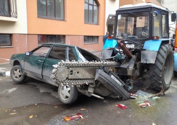 Самые оригинальные «народные» способы наказания «героев парковки» 11