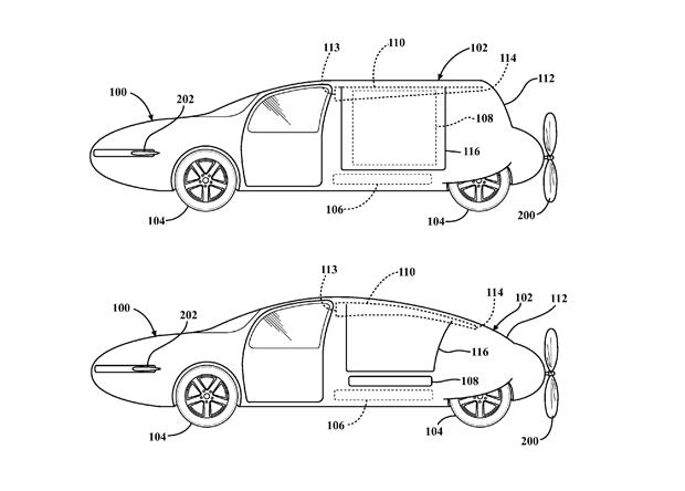 Компания Toyota запатентовала летающее авто 1