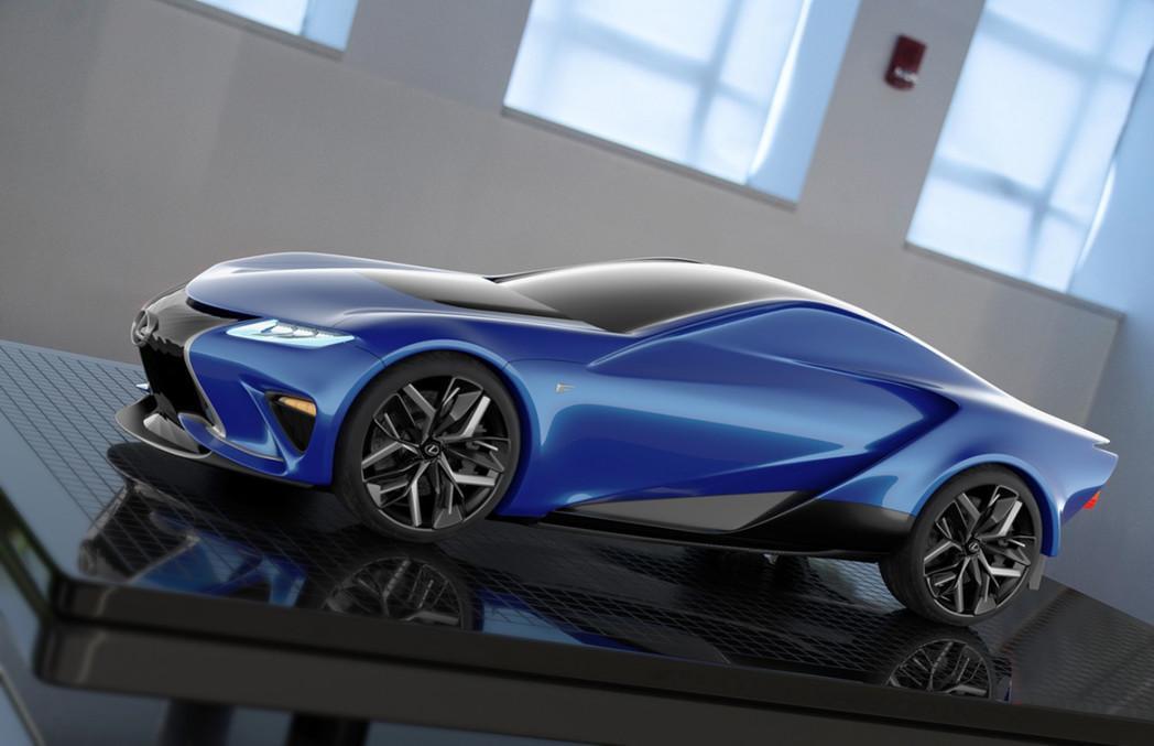 Молодой дизайнер создал концепт нового суперкара Lexus 2