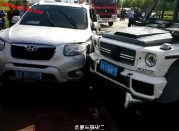 Эксклюзивный Mercedes-Benz G63 «отличился» в Китае 1