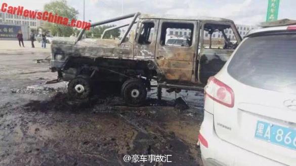 Эксклюзивный Mercedes-Benz G63 «отличился» в Китае 2