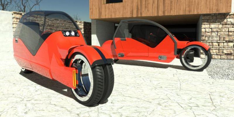 Agrodesign представила концептуальное авто, состоящее из двух мотоциклов 1