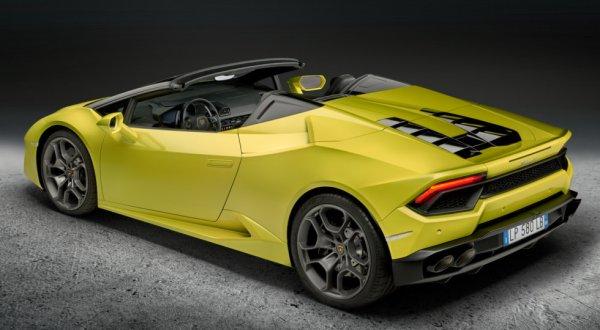 Lamborghini Huracan Spyder дебютировал 2